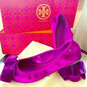 Tory Burch Purple Ballet Flats - never been worn!